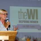 Julie Peasgood speaking to WI Audience