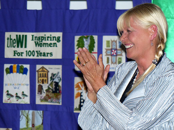 Julie Peasgood thanking the WI Audience.
